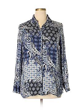 River Island Long Sleeve Button-Down Shirt Size 14