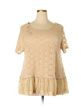 One Clothing Short Sleeve Blouse Size 2X (Plus)