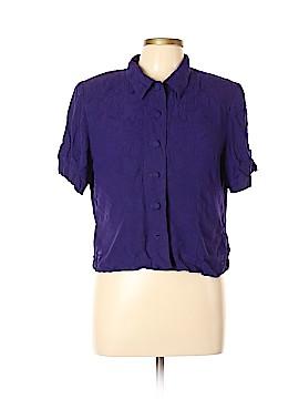 Karin Stevens Short Sleeve Button-Down Shirt Size 12