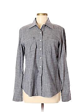 Monteau Long Sleeve Button-Down Shirt Size M