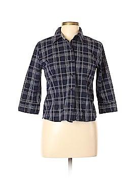 St. John's Bay Long Sleeve Button-Down Shirt Size L (Petite)