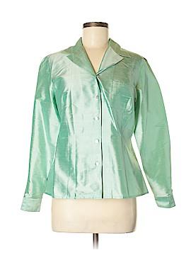 Worthington Long Sleeve Silk Top Size 6 (Petite)