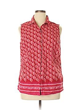 Style&Co Sleeveless Button-Down Shirt Size 16