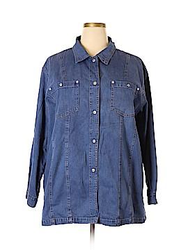 Venezia Long Sleeve Button-Down Shirt Size 22 - 24 Plus (Plus)