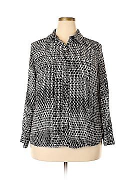 Covington Long Sleeve Button-Down Shirt Size 1X (Plus)