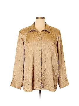 Maggie Barnes Long Sleeve Button-Down Shirt Size 16 (2)