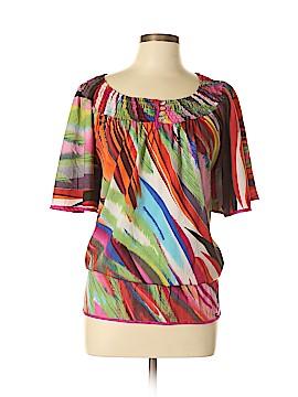 Life Style Short Sleeve Blouse Size L