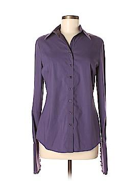 Tahari Long Sleeve Button-Down Shirt Size M