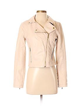 Jennifer Lopez Faux Leather Jacket Size XS