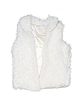 The Children's Place Faux Fur Vest Size 12
