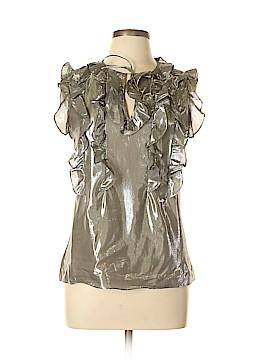 Lauren by Ralph Lauren Short Sleeve Silk Top Size 12