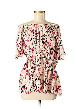 Thakoon Short Sleeve Silk Top Size 6
