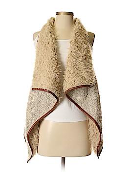 Love Tree Solid Tan Faux Fur Vest Size S 60 Off Thredup