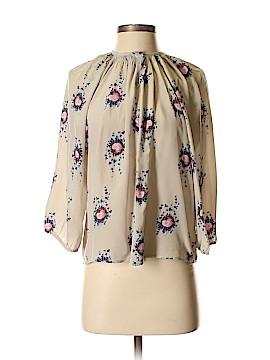 Tucker 3/4 Sleeve Silk Top Size P
