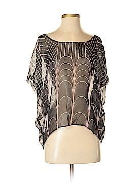 Tt Collection Short Sleeve Silk Top Size S