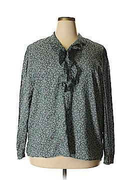 Diane von Furstenberg Long Sleeve Blouse Size 3X (Plus)