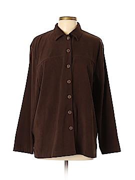 Cathy Daniels Long Sleeve Button-Down Shirt Size XL