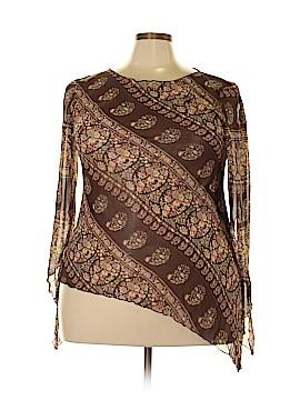 Caren Sport Long Sleeve Blouse Size 3X (Plus)