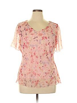 DressBarn Short Sleeve Blouse Size 14 (Plus)