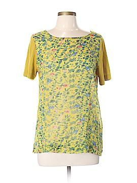 Hi-Line Short Sleeve Silk Top Size L