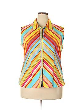 Carolina Colours Sleeveless Button-Down Shirt Size 18 - 20 (Plus)