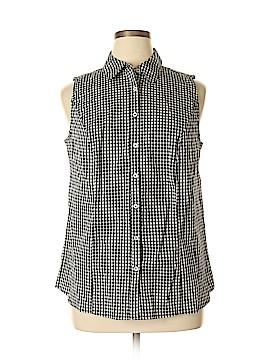 Jessica London Sleeveless Button-Down Shirt Size 18 (Plus)