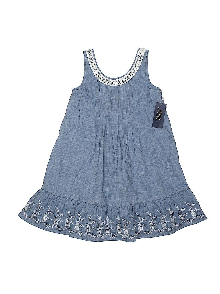 e26bf4781af Polo by Ralph Lauren 100% Cotton Crochet Blue Dress Size 6 - 80% off ...