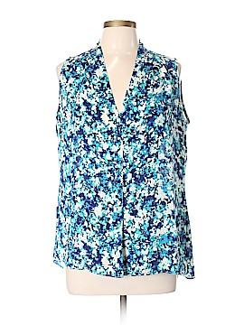 Rose & Olive Sleeveless Blouse Size L