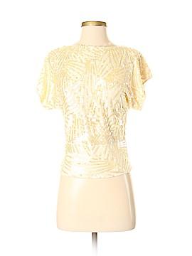 DKNY Short Sleeve Silk Top Size P