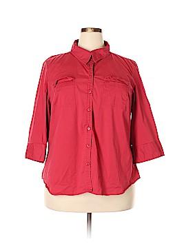 Venezia 3/4 Sleeve Button-Down Shirt Size 22/24 Plus (Plus)