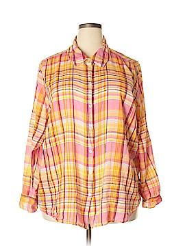 Lane Bryant Long Sleeve Button-Down Shirt Size 26 (Plus)