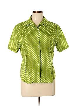 Jones New York Signature Short Sleeve Button-Down Shirt Size L