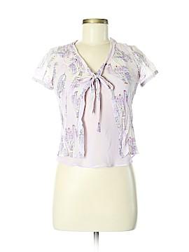 Rafaella Short Sleeve Silk Top Size 6