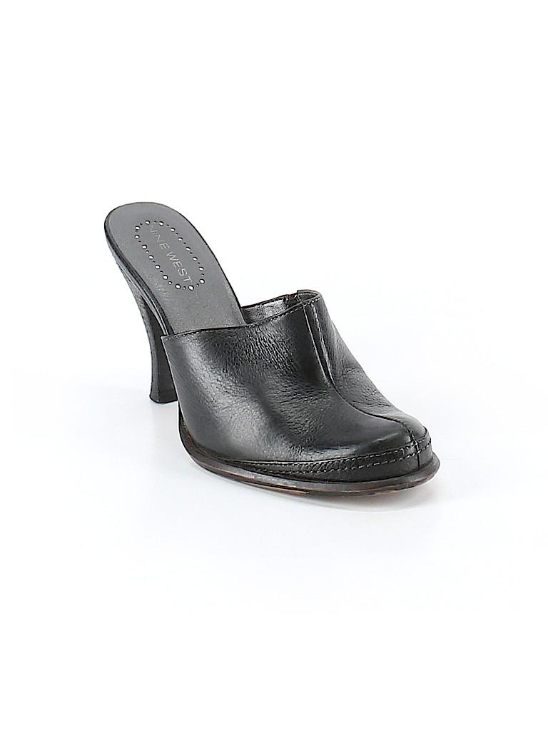 639b820d0d62 Nine West Solid Black Mule Clog Size 6 1 2 - 61% off