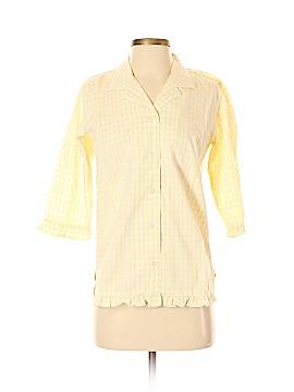 Denim & Co 3/4 Sleeve Button-Down Shirt Size XS