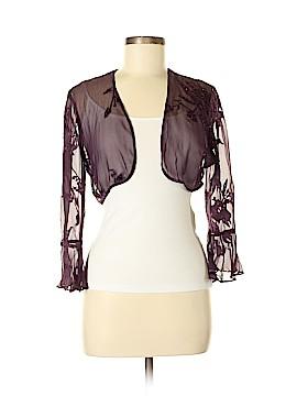 Alex Evenings Silk Cardigan Size 6