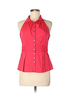 Moda International Sleeveless Button-Down Shirt Size M