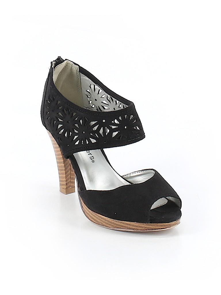 743c7b99f2e4 Cloudwalkers Solid Black Heels Size 7 - 60% off