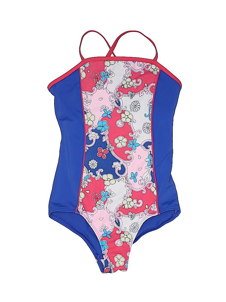 30d9af0a6b0b4 Lands' End Print Blue One Piece Swimsuit Size 7 - 40% off | thredUP
