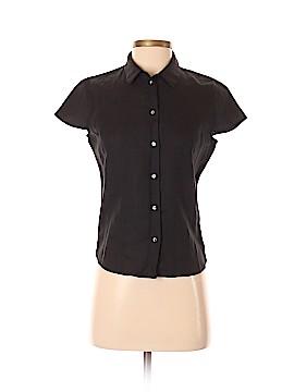 Saks Fifth Avenue Short Sleeve Button-Down Shirt Size 2