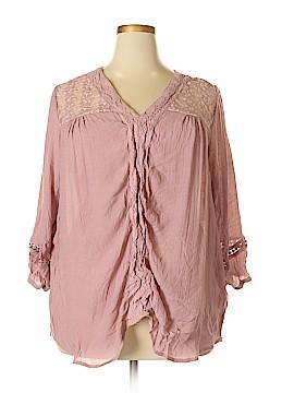 Carolyn Taylor 3/4 Sleeve Blouse Size 3X (Plus)