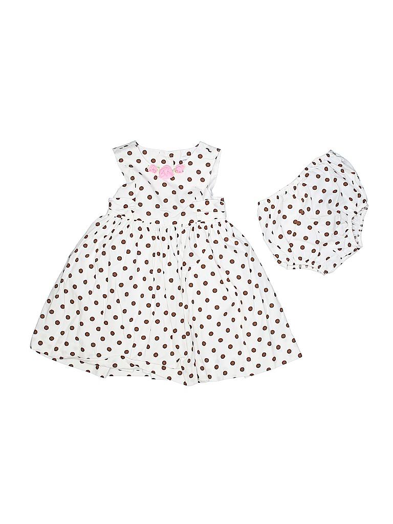 f0ab5c864 Polly   Friends 100% Cotton Polka Dots White Dress Size 24 mo - 65 ...