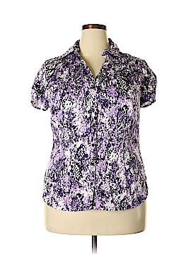 Fred David Short Sleeve Button-Down Shirt Size 14