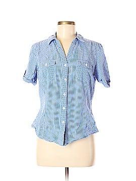 Jones New York Sport Short Sleeve Button-Down Shirt Size M