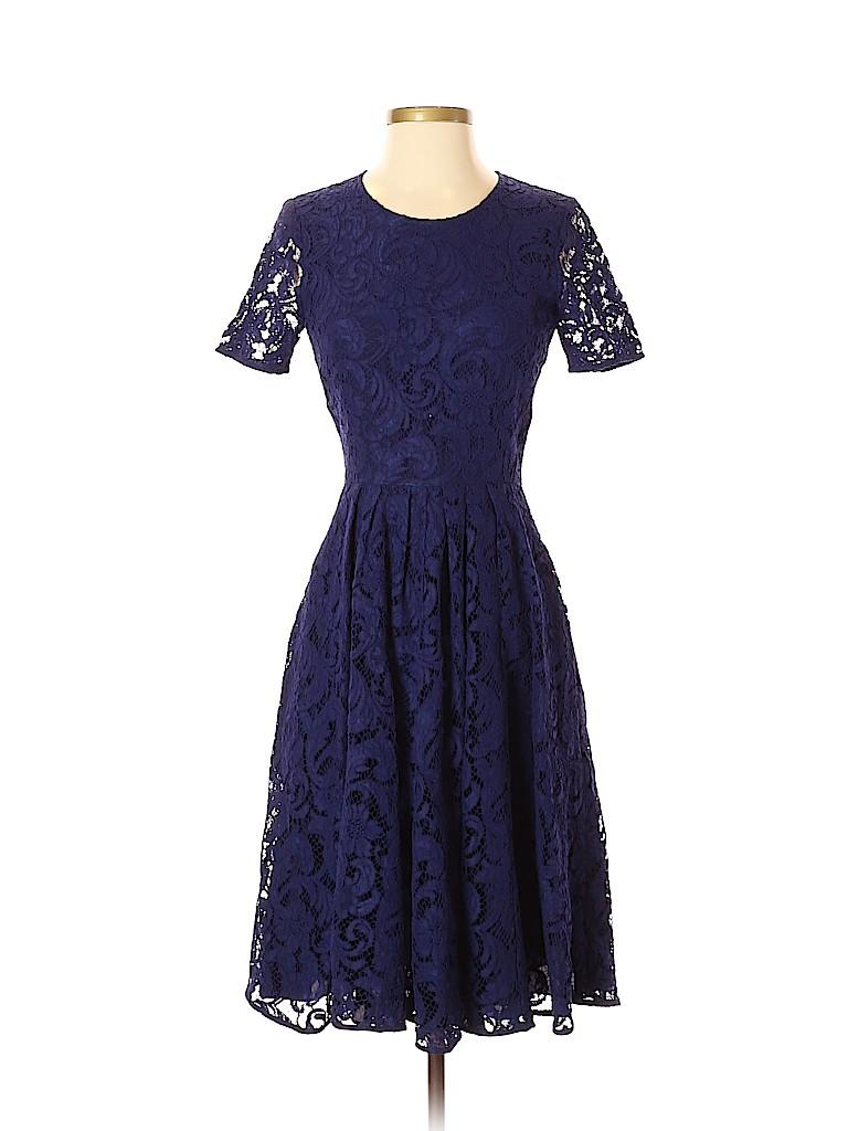 856001b2b0d Cobalt Blue Cocktail Dress With Lace