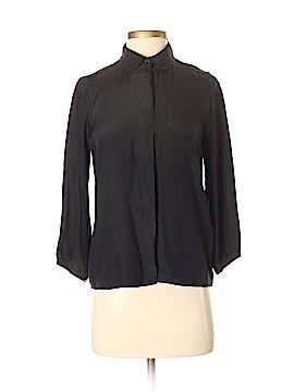 Sandro 3/4 Sleeve Silk Top Size Sm (1)