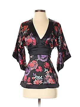 Bisou Bisou Short Sleeve Blouse Size S