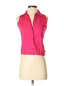 Split Sleeveless Button-Down Shirt Size S