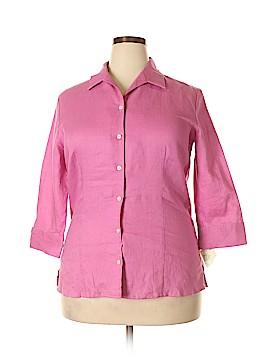 Covington Outlet 3/4 Sleeve Button-Down Shirt Size 16