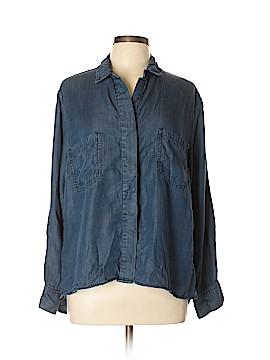 Andrea Jovine Long Sleeve Button-Down Shirt Size XL